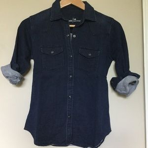 Gap Navy Denim Shirt